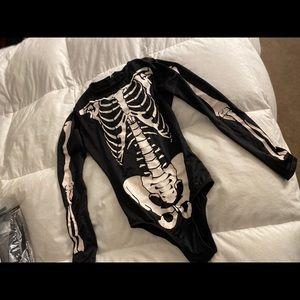 Skeleton Halloween bodysuit